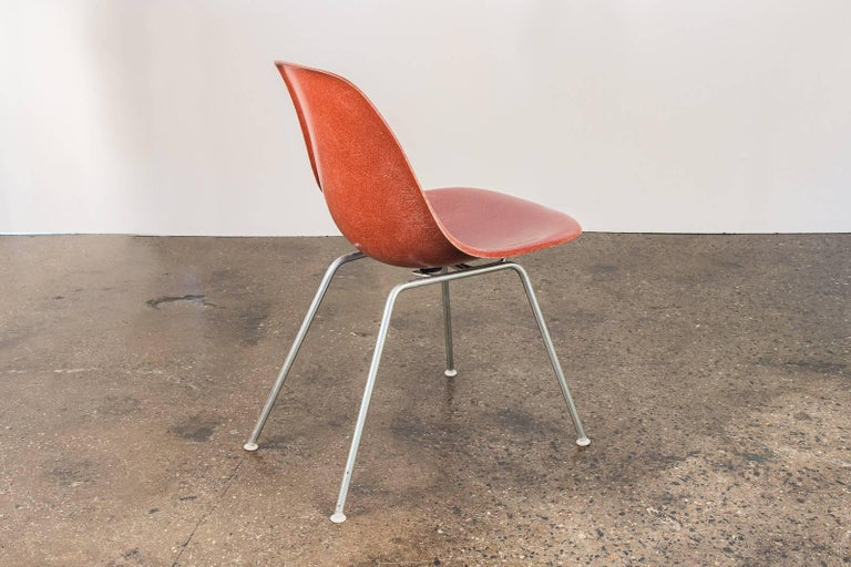 Fiberglass 1960s Eames Terracotta Shell Chair For Sale