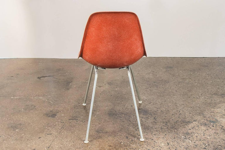 1960s Eames Terracotta Shell Chair For Sale 1