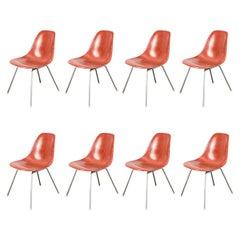 Eames for Herman Miller Terracotta Fiberglass Shell Chair