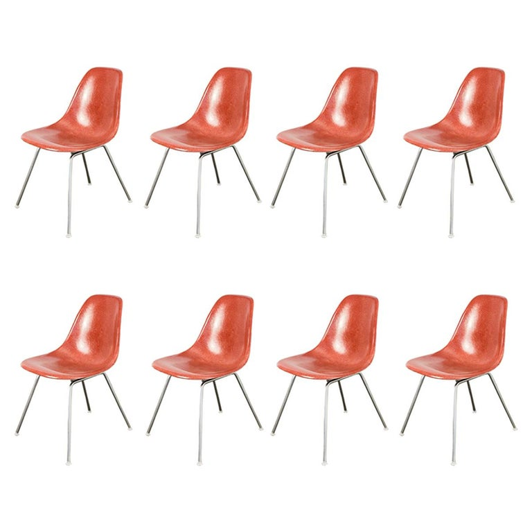 1960s Eames Terracotta Shell Chair For Sale