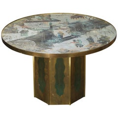 1960s Early Philip Kelvin LaVerne Bronze Chan Coffee Table NYC Cocktail Mad Men