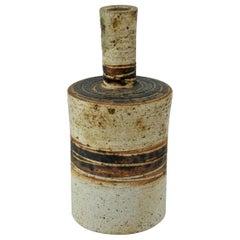 1960s Earthy Danish Stoneware Vase Cabinmoden Farmhouse Rustic Midcentury