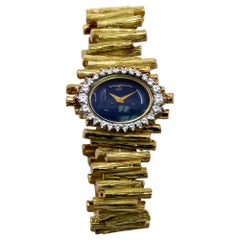 1960s Ebel Watch with Lapis Lazuli Dial and Diamond Bezel