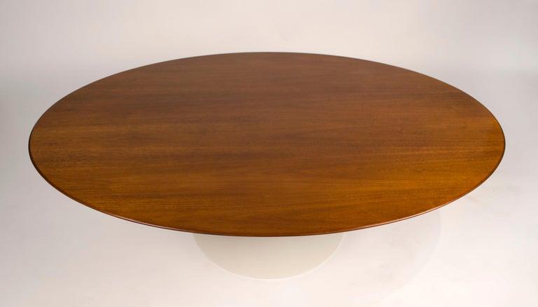 American 1960s Eero Saarinen Oval Walnut Coffee Table for Knoll For Sale