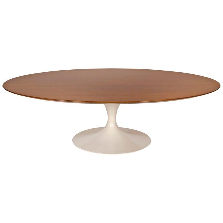 1960s Eero Saarinen Oval Walnut Coffee Table for Knoll For Sale