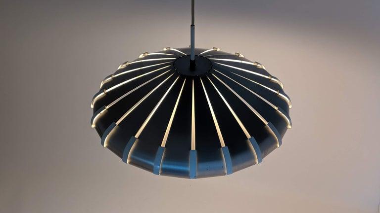 Italian 1960s Elio Martinelli Style Louvered Pendant, Italy For Sale