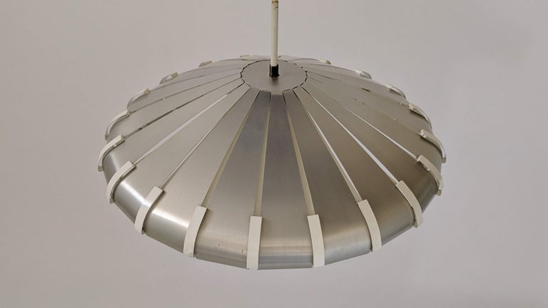 Mid-20th Century 1960s Elio Martinelli Style Louvered Pendant, Italy For Sale