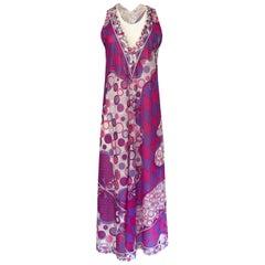 1960s Emilio Pucci for Formfit Rogers Purple & Pink Nylon Lingerie Dress
