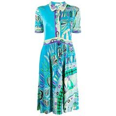 1960s Emilio Pucci Multico Silk Dress