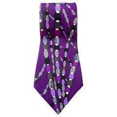 Emilio Pucci 1960s Printed Silk Tie
