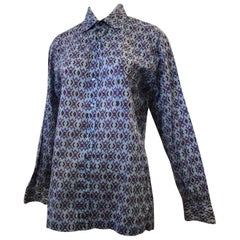 1960s Emilio Pucci Signed Men's Cotton Shirt (45 Chest)