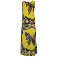 1960s Emilio Pucci Silk Chiffon Dress with a Huge Butterfly Print