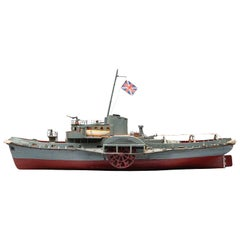 1960s English Wooden Model of the 'Forceful in Portsmouth' Paddle Wheel Boat