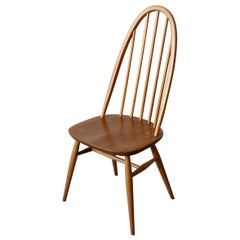 1960s Ercol 365 Quaker Windsor Chair in Solid Elm and Beech