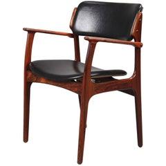 1960s Erik Buch Armchair in Rosewood, Inc. Reupholstery