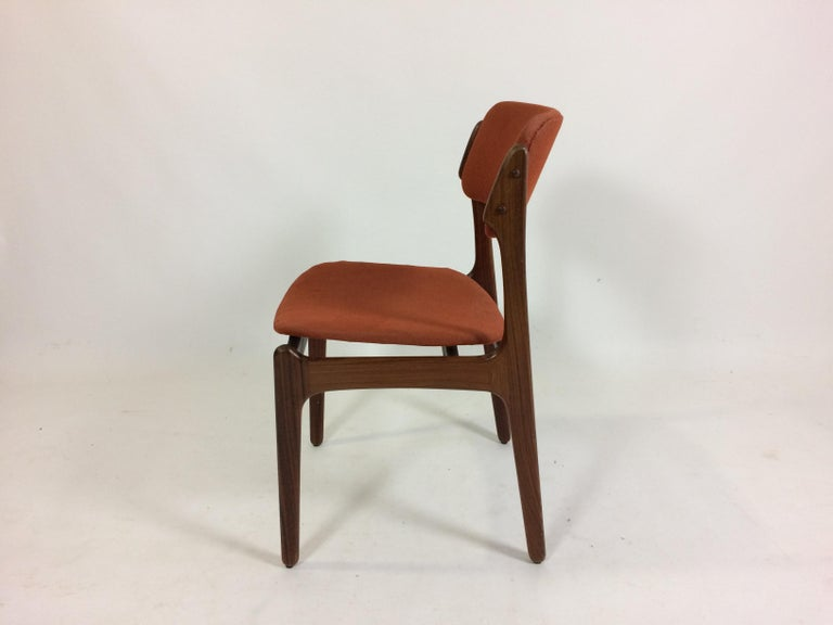 Danish 1960s Erik Buch Set of 12 Rosewood Dining Chairs, Inc. Re-Upholstery For Sale