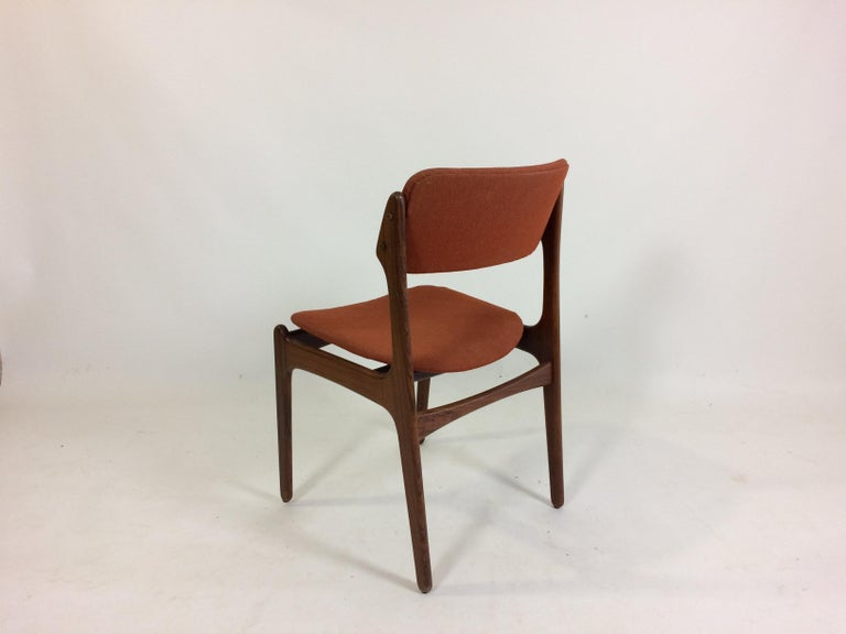 Woodwork 1960s Erik Buch Set of 12 Rosewood Dining Chairs, Inc. Re-Upholstery For Sale