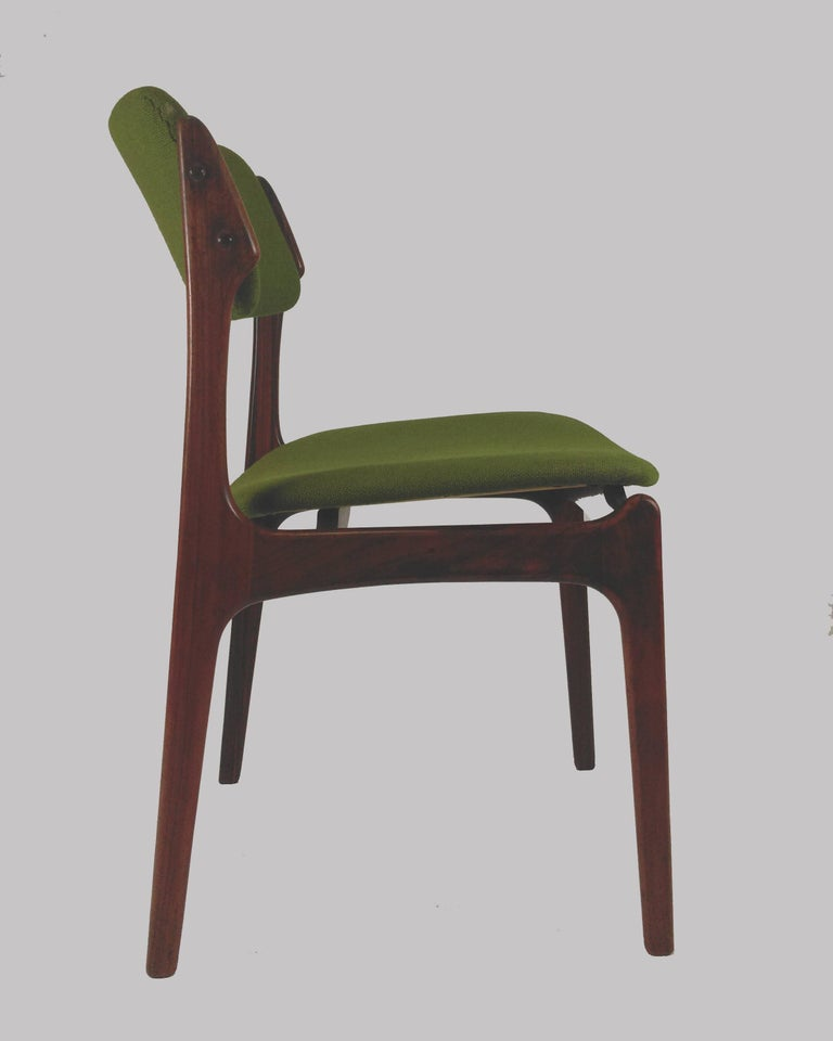 1960s Erik Buch Set of Eight Model 49 Rosewood Dining Chairs For Sale 5