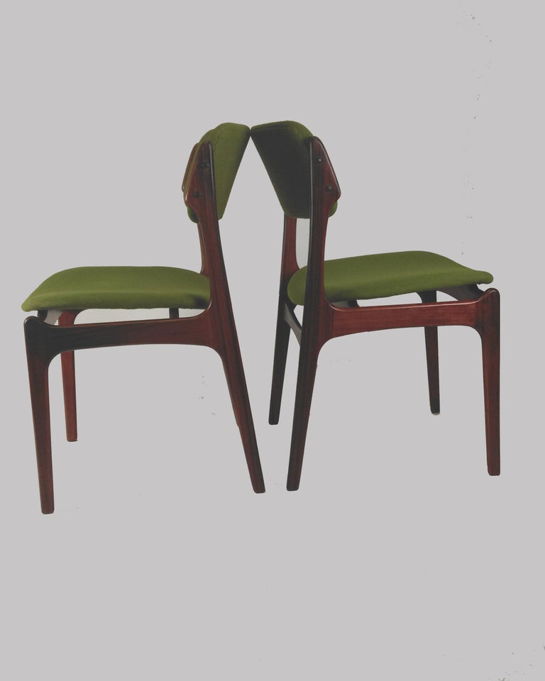 1960s Erik Buch Set of Eight Model 49 Rosewood Dining Chairs For Sale 8