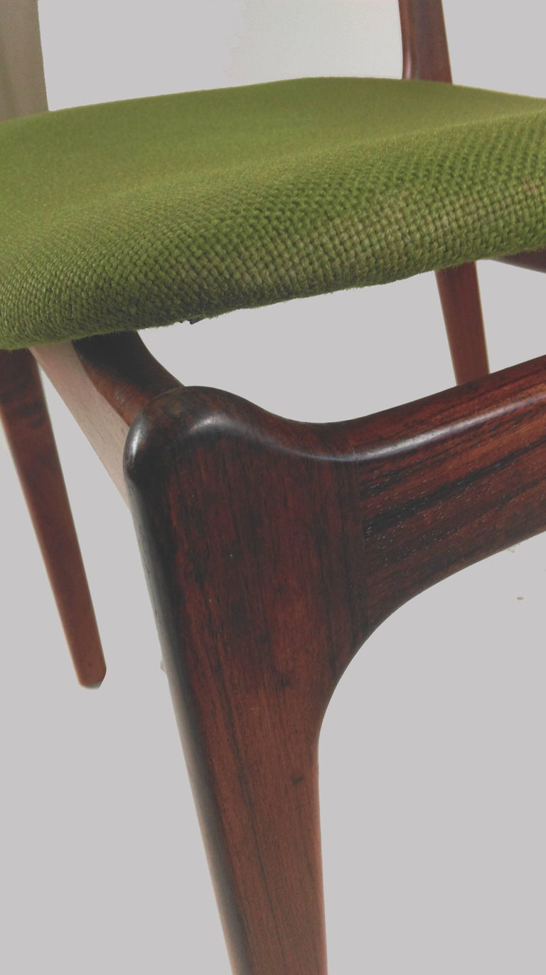 1960s Erik Buch Set of Eight Model 49 Rosewood Dining Chairs For Sale 9