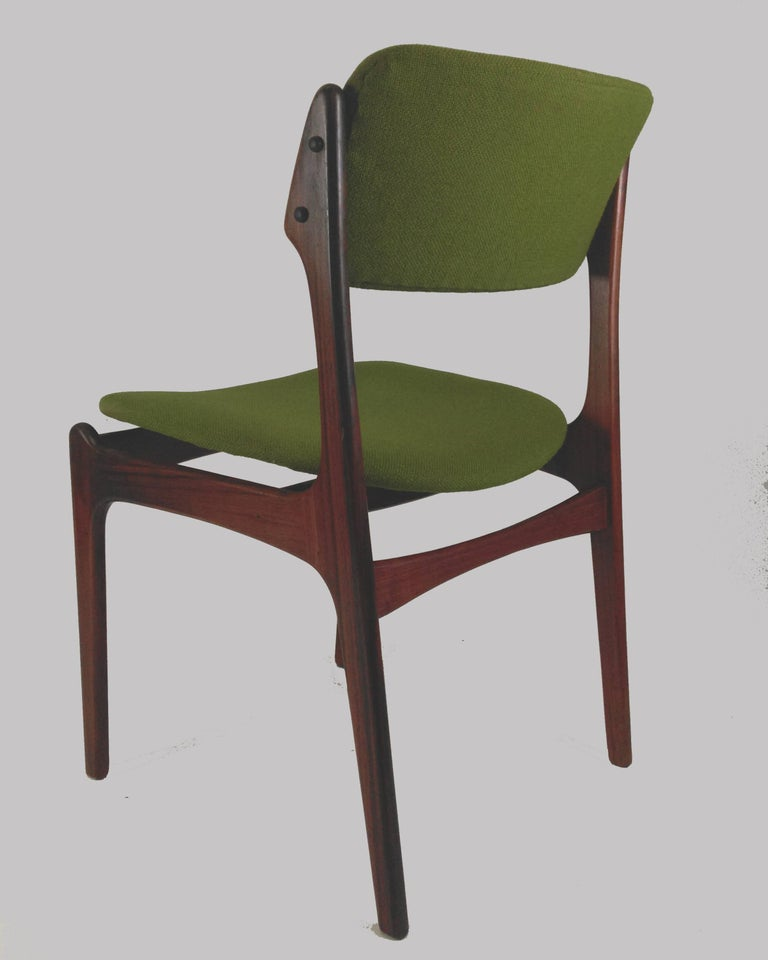 Mid-20th Century 1960s Erik Buch Set of Eight Model 49 Rosewood Dining Chairs For Sale