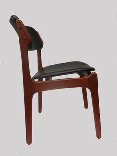 1960s Erik Buch Set of Eight Model 49 Teak Dining Chairs