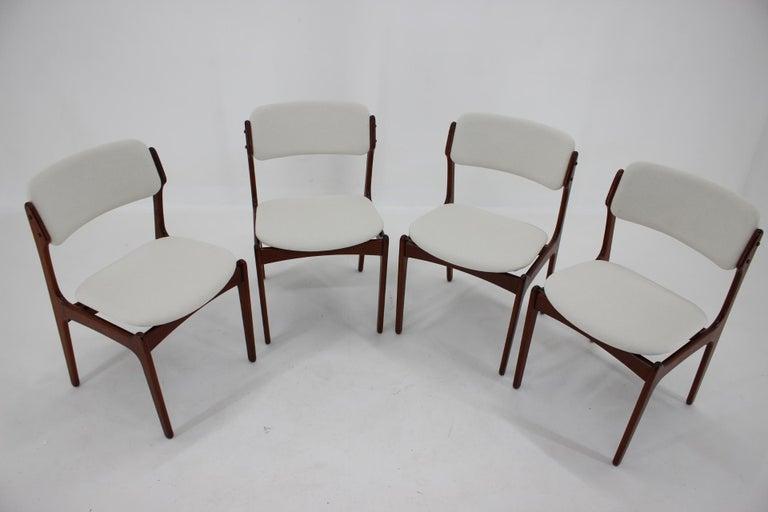 Danish 1960s Erik Buch Set of Four Teak Dining Chairs, Denmark For Sale