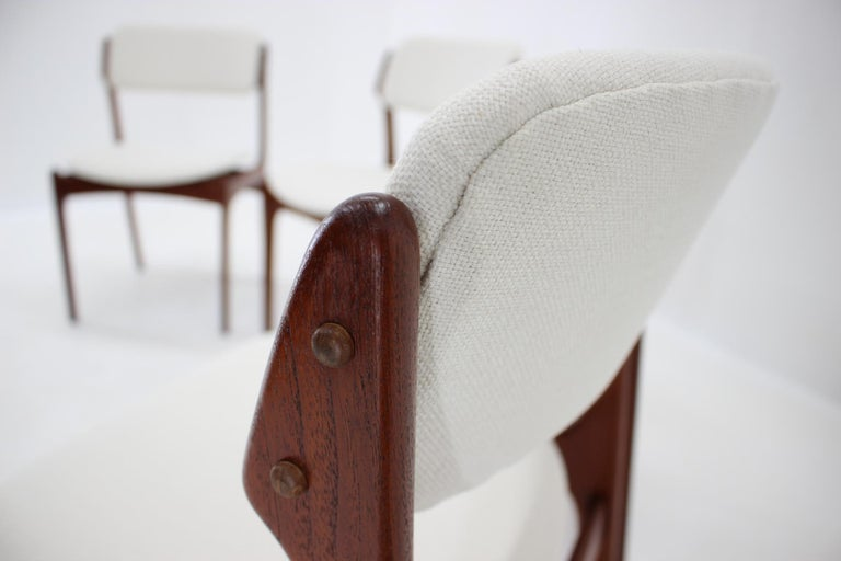 Mid-20th Century 1960s Erik Buch Set of Four Teak Dining Chairs, Denmark For Sale