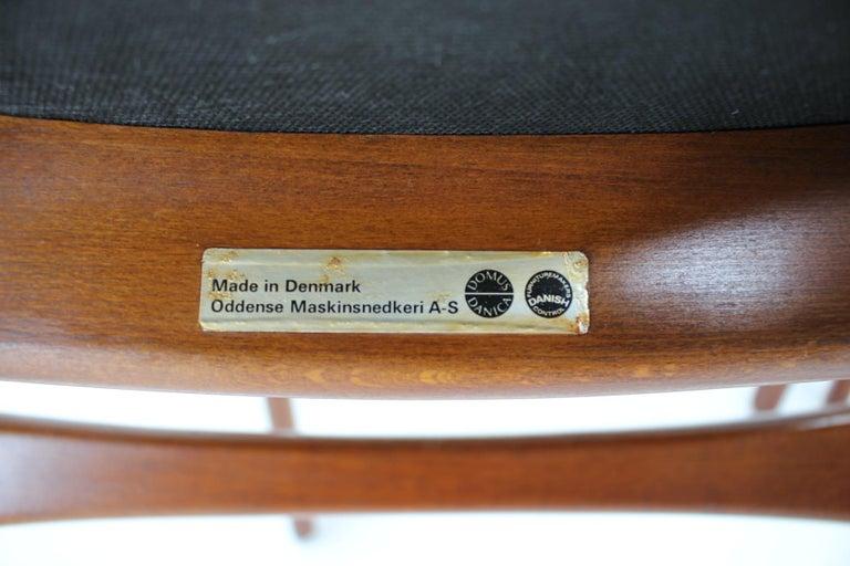 1960s Erik Buch Set of Four Teak Dining Chairs, Denmark For Sale 1