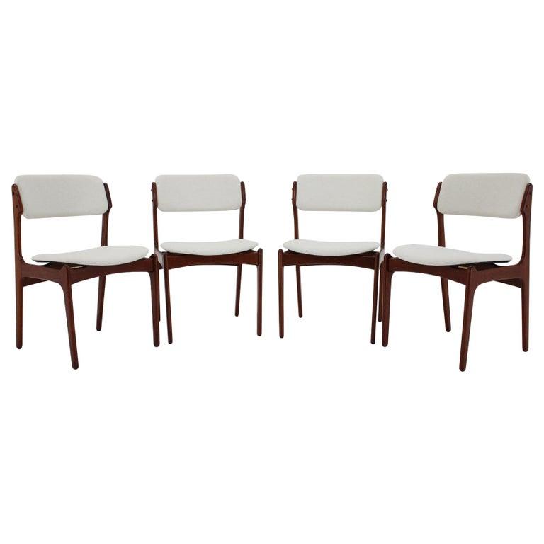 1960s Erik Buch Set of Four Teak Dining Chairs, Denmark For Sale
