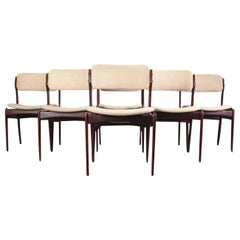 1960s Erik Buch Set of Six Mahogany Dining Chairs, Choice of Upholstery