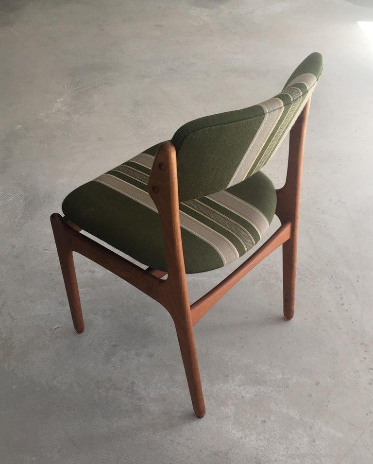 Scandinavian Modern 1960s Erik Buch Teak Dining Chairs, Inc. Reupholstery For Sale