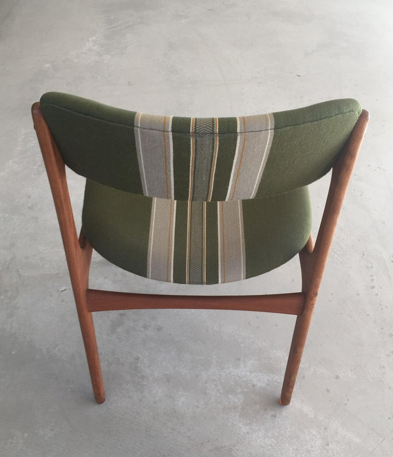 Danish 1960s Erik Buch Teak Dining Chairs, Inc. Reupholstery For Sale