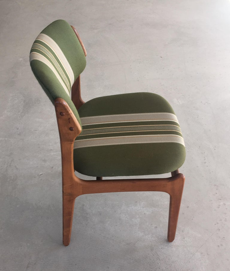 Mid-20th Century 1960s Erik Buch Teak Dining Chairs, Inc. Reupholstery For Sale