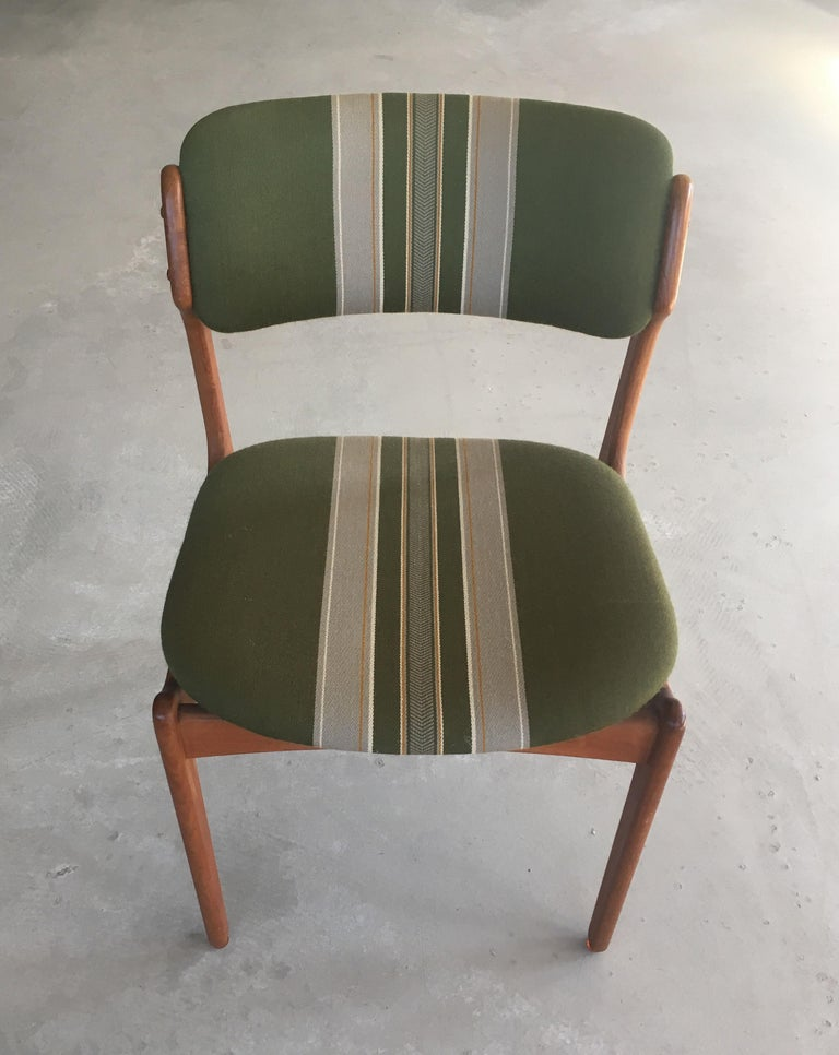 1960s Erik Buch Teak Dining Chairs, Inc. Reupholstery For Sale 2