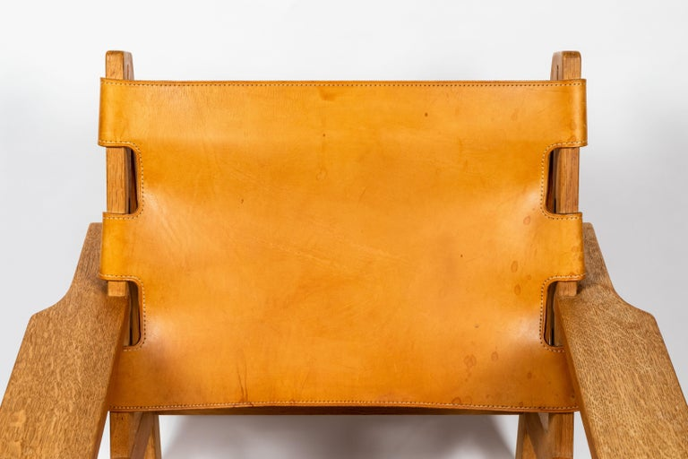 1960s Erling Jessen Oak and Leather Lounge Chair For Sale 2