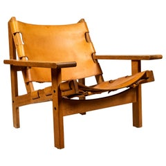 1960s Erling Jessen Oak and Leather Lounge Chair