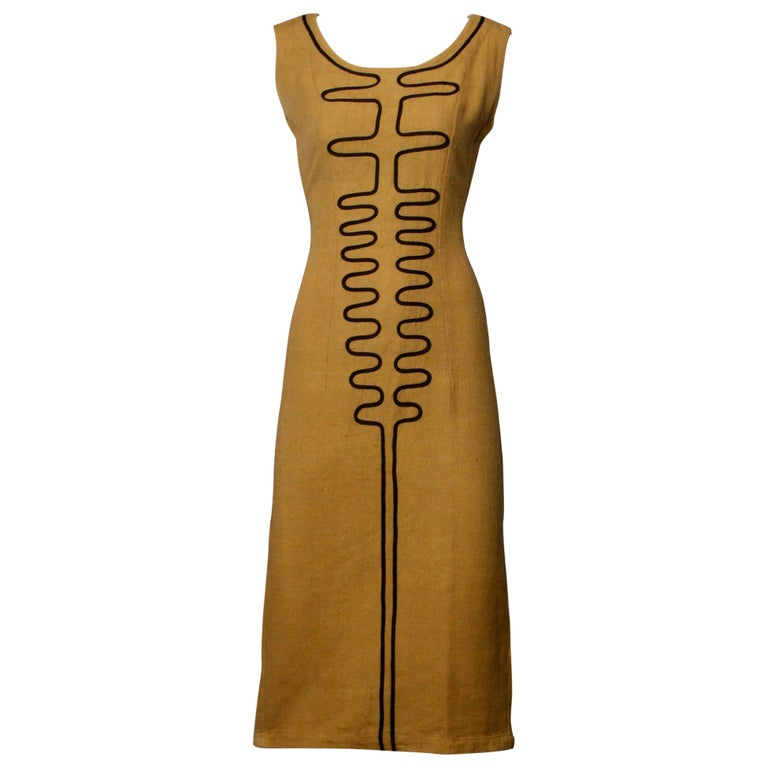 1960s Extremely Rare Early Pre-Orange Label Missoni Dress with Mod Design For Sale