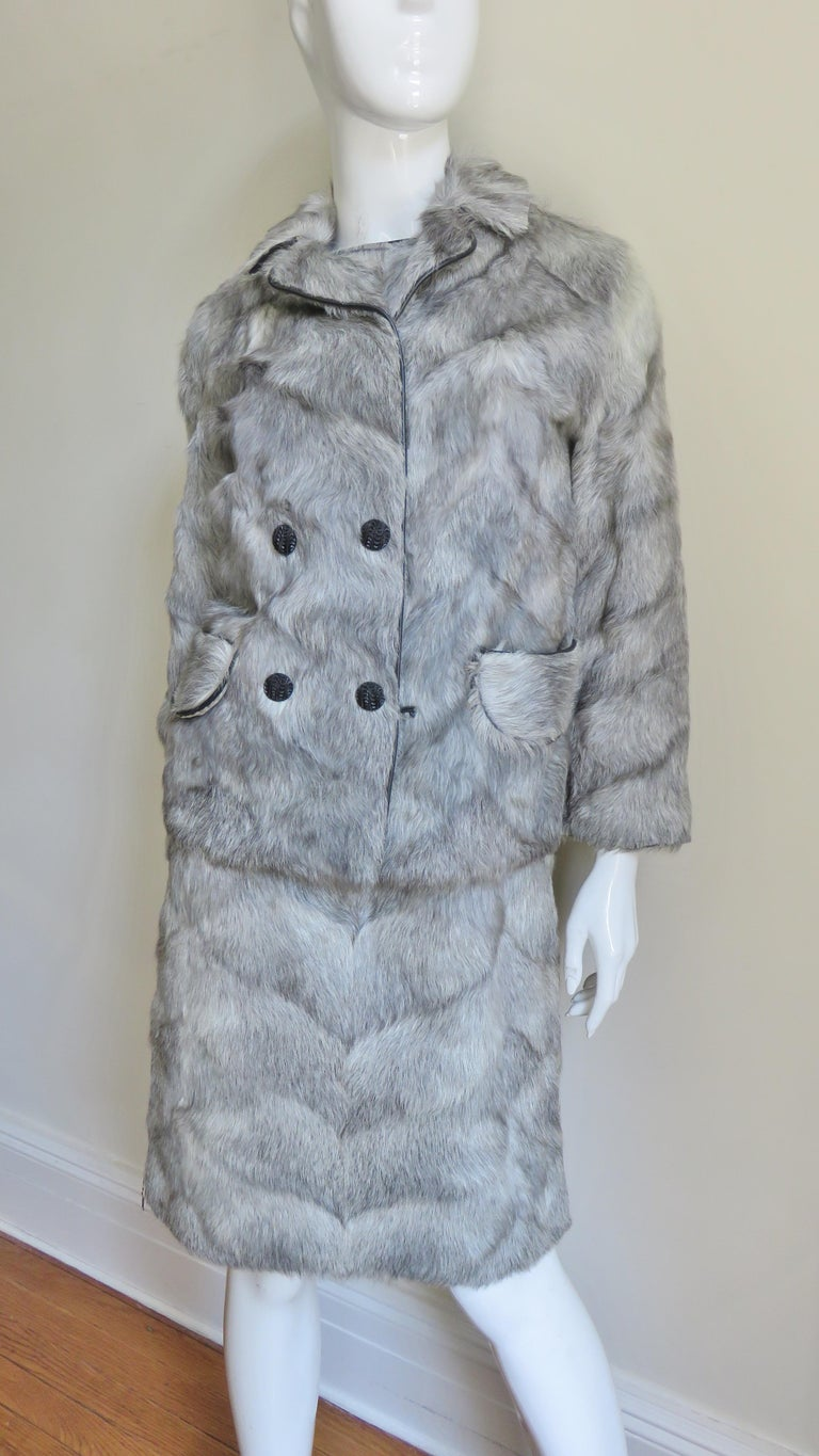 1960s Mr G Fur Dress and Jacket For Sale 6