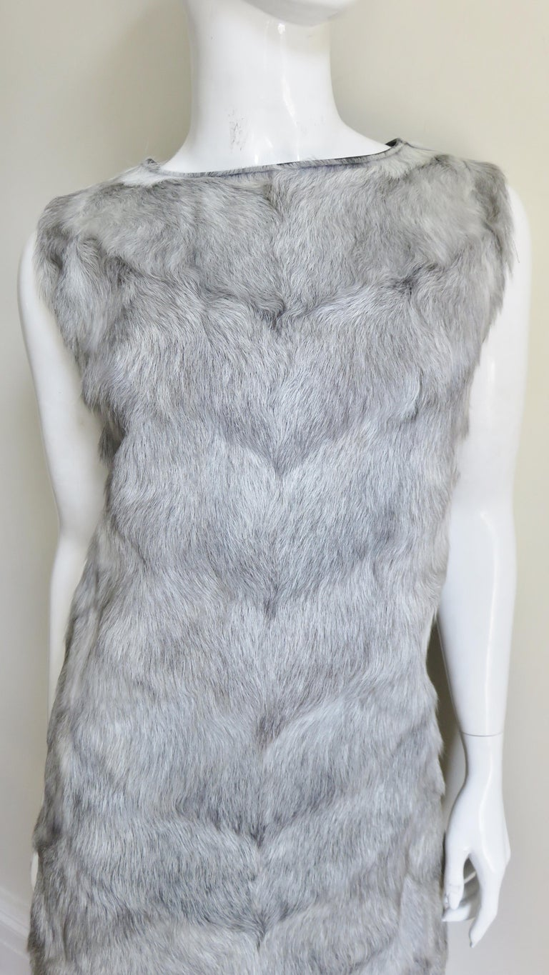 1960s Mr G Fur Dress and Jacket In Good Condition For Sale In New York, NY