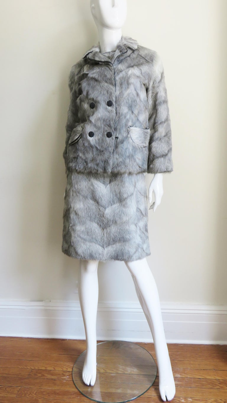 1960s Mr G Fur Dress and Jacket For Sale 7