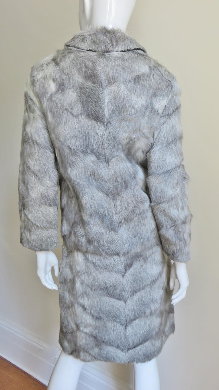 1960s Mr G Fur Dress and Jacket For Sale 8