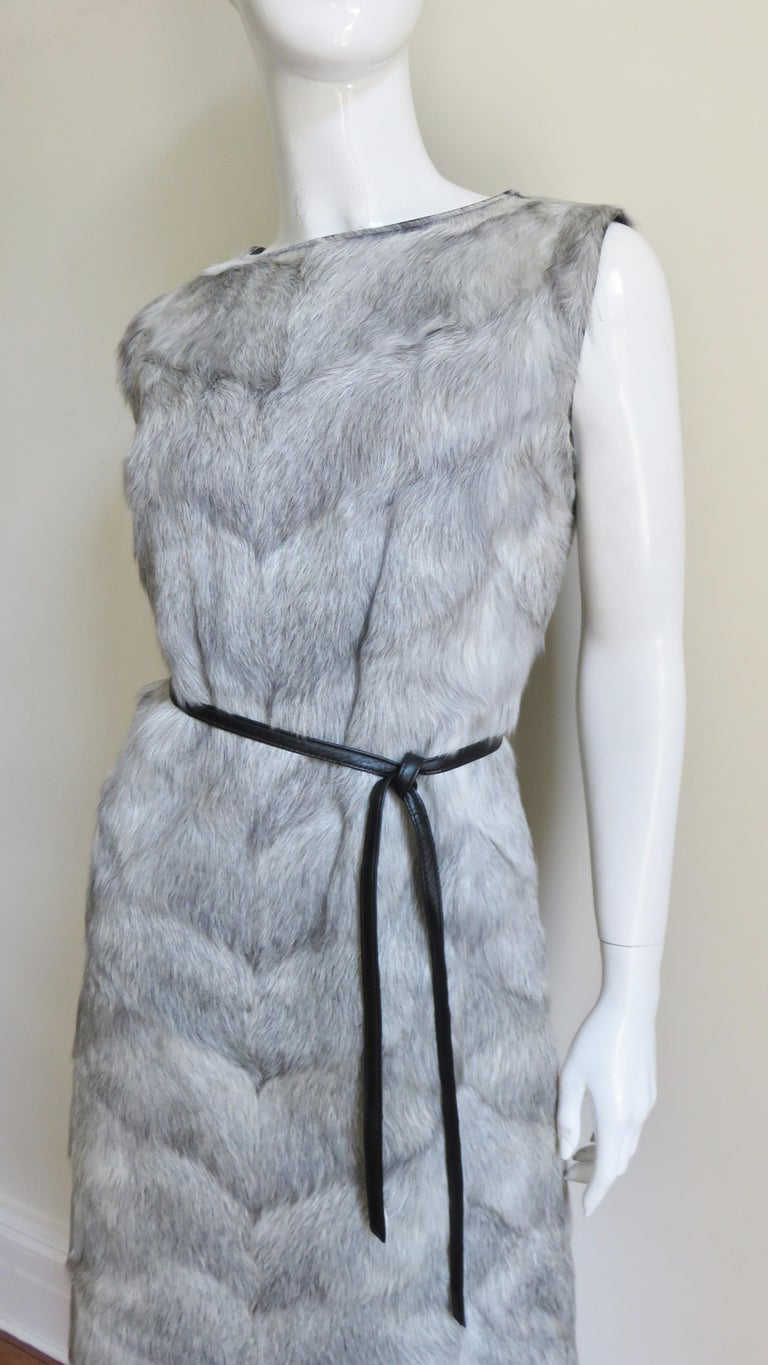 1960s Mr G Fur Dress and Jacket For Sale 1