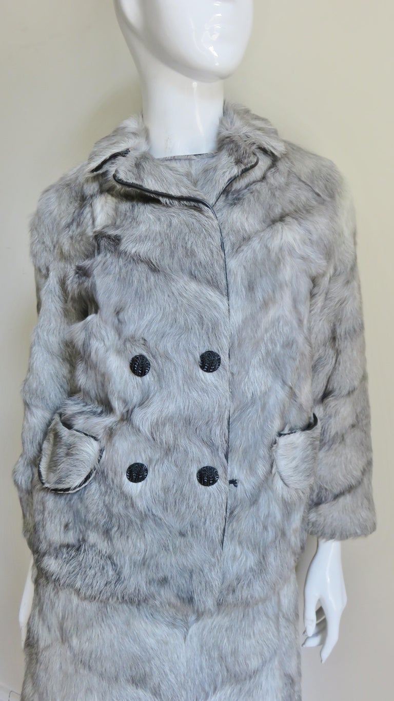 1960s Mr G Fur Dress and Jacket For Sale 4