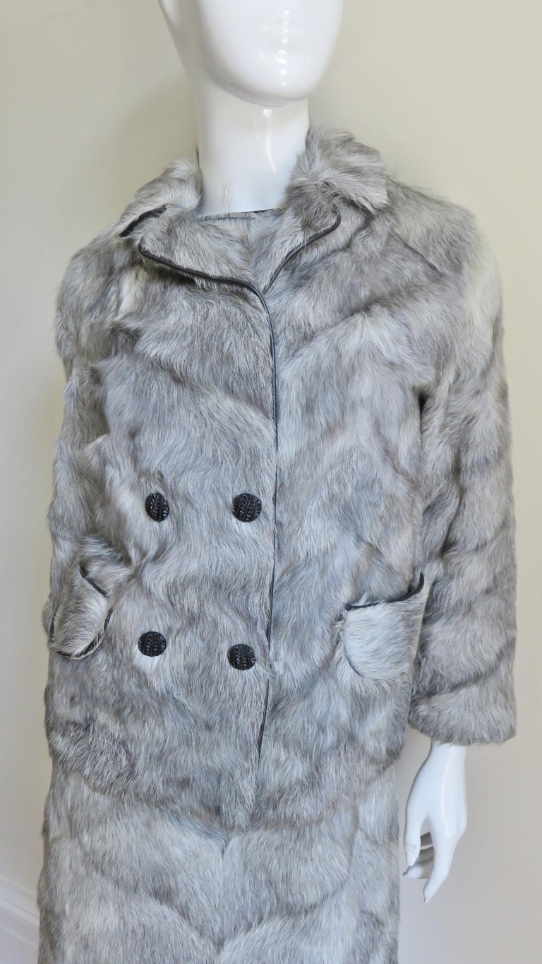 1960s Mr G Fur Dress and Jacket For Sale 5