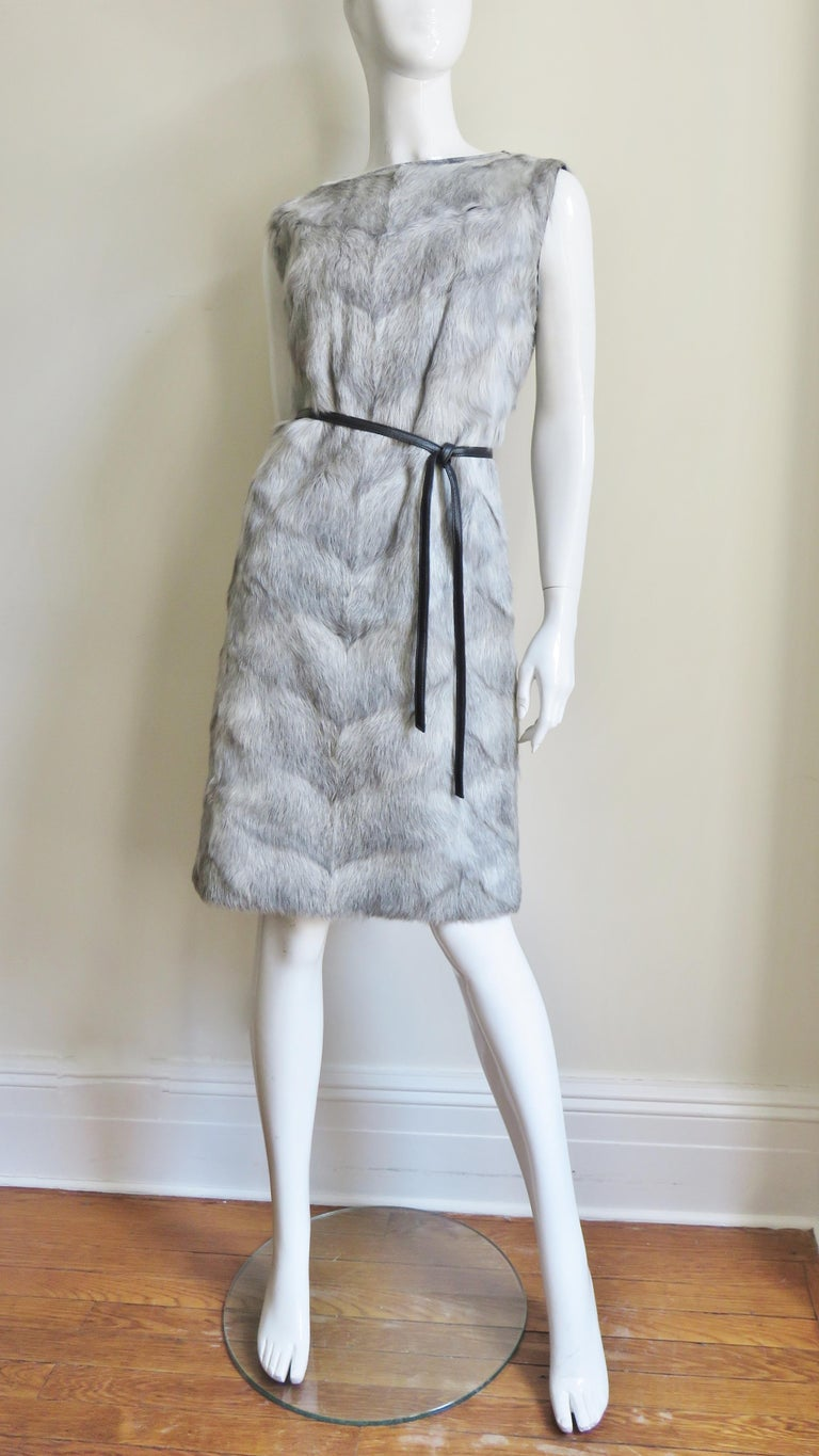 1960s Mr G Fur Dress and Jacket For Sale 3