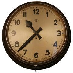 1960s Factory Clock TN Tele Norma Germany