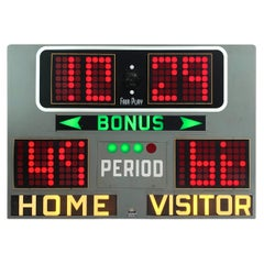 1960s Fair Play Electro-Magnetic Basketball Scoreboard