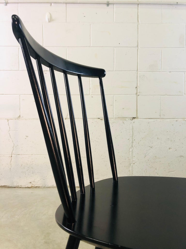 1960s Farstrup Danish Black Dining Chairs, Set of 3 For Sale 4
