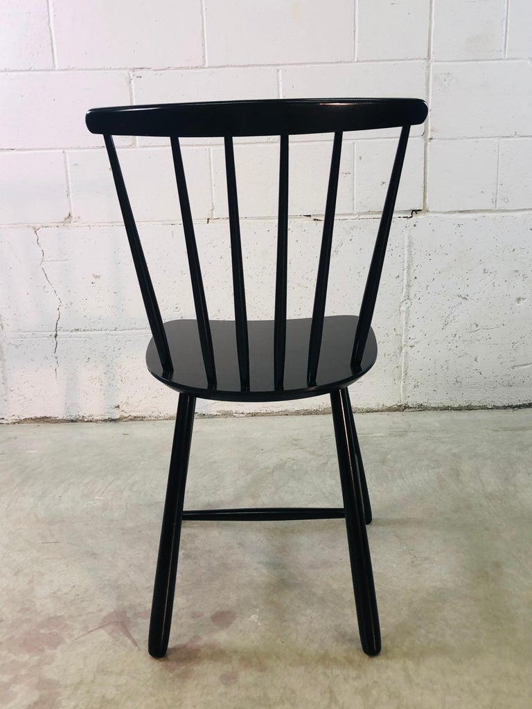 1960s Farstrup Danish Black Dining Chairs, Set of 3 For Sale 1